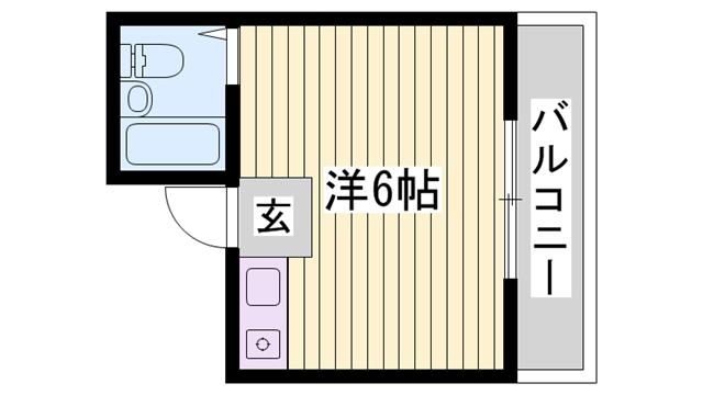 物件番号: 1115177410  姫路市上大野4丁目 1R マンション 間取り図