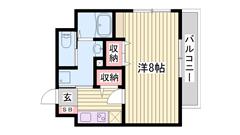 姫路駅徒歩圏内です♪オール電化仕様で経済的です☆ 3-Aの間取