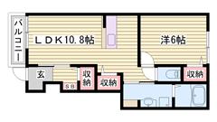 山崎インター近くで便利☆ 充実の設備!! 新婚さんにおすすめですよ♪♪ 104の間取