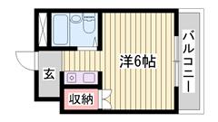 敷金・礼金0円物件♪♪ 東加古川駅近くです☆ コンビニも近く!!  205の間取