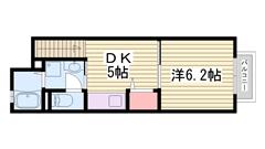 家賃お手頃な1DK☆ 設備も充実してます! 206の間取