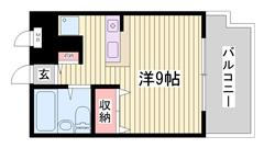 山陽高砂駅徒歩2分!!通勤・通学便利ですよ☆嬉しいエアコン付き♪ 504の間取