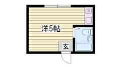 敷金・礼金0円物件☆ 家電・家具付き!! ネット使い放題ですよ♪♪ 201の間取