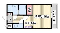 JR曽根駅すぐ近くで快適便利♪ お家賃もお手頃です! 101の間取