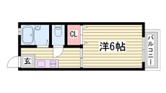 小型犬OK物件ですよ☆ 近くにコンビニが有ります!! 姫路駅まで徒歩圏内♪♪ 202の間取