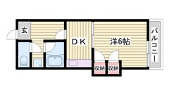 日割り家賃・翌月賃料・初回保証料・鍵交換費用 サービス!条件有り☆ 408の間取