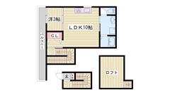 人気の都市ガス!デザイナーズマンションです♪JR加古川駅まで徒歩5分! 203の間取