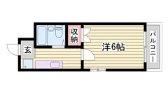 嬉しい照明器具付き☆ 安心のカードキー!!! 駅まで徒歩3分ですよ(^O^)/ 303の間取