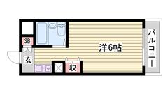 敷金・礼金0円マンション☆ 嬉しいオール電化仕様!! ミニ冷蔵庫付きです♪♪ 321の間取