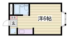 単身さんにオススメ☆バス・トイレ別ですよ(^O^) 202の間取