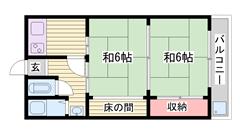 コンビニ・スーパー徒歩圏内ですごく便利!! 17の間取