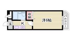 照明 冷暖房設備付 安心のオートロック 201の間取