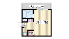敷金・礼金0円☆近くにコンビニが有ります!単身さんにおすすめです♪ 205の間取