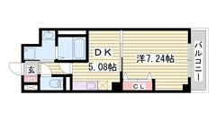 オシャレなデザイナーズマンション オートロック完備 姫路駅徒歩圏内 105の間取