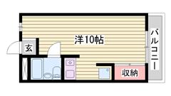 敷金ゼロ物件♪広めの1R☆人気の都市ガス仕様!! 303の間取
