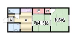 土山駅徒歩6分で生活便利! 302の間取