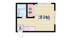 土山駅徒歩6分で生活便利! 306の間取