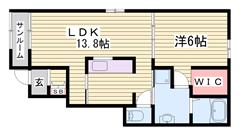 設備充実! エアコン2台付き☆☆ サンルームもあります!! 102の間取