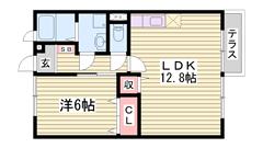敷金0円☆ 閑静な住宅街 マックスバリュ近くで単身さんも暮らし楽々♪ 102の間取